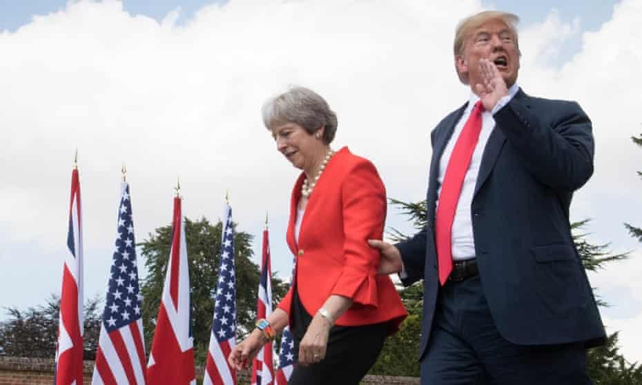 Donald Trump and Theresa May at Chequers during his UK visit