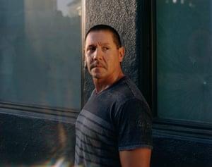 John Vasquez in the Tenderloin in San Francisco, near his transitional housing apartment.