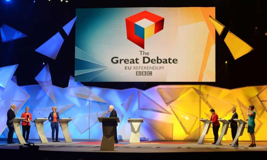 The referendum debate at Wembley Arena.
