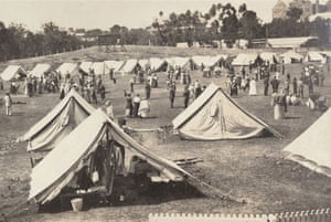 Some 100 military tents were set up in 1919 on Adelaide's Jubilee Oval to create a Spanish flu quarantine camp