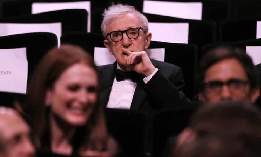 Woody Allen at the Cannes screening of his film Cafe Society