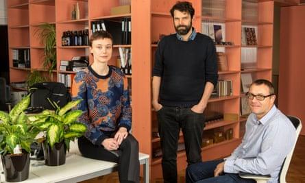 Maria Smith, Steve Webb and Andy Yates of Interrobang.