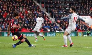 Salah dances through for his hat-trick.