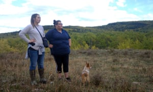 Kimberley Heavyrunner Loring and her cousin look for Ashley on the Blackfeet reservation.