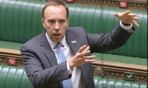 Health secretary Matt Hancock in a statement to the House of Commons.