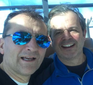 Charlie Jackson (left) and Declan Keane on skiing holiday in Ischgel in March 2020.
