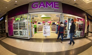 Game store in the Arndale Centre in Manchester
