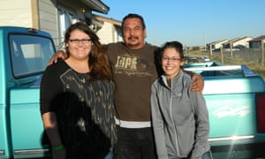 Kimberly and Ashley Heavyrunner Loring with their father, Roy Lee Heavyrunner.