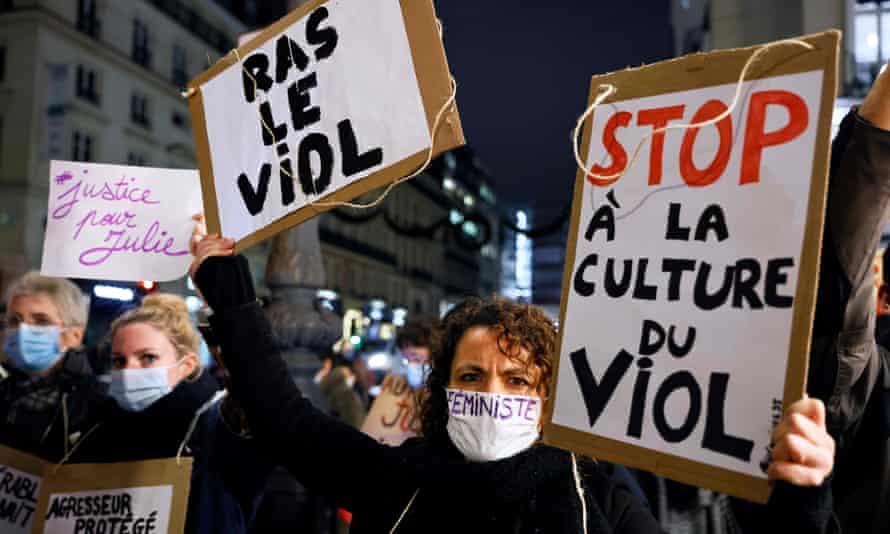 Protesters in Paris last November