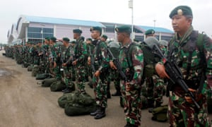 Indonesian soldiers arrive in West Papua following protests that were triggered following the arrest of Papuan students in the Indonesian city of Surabaya.