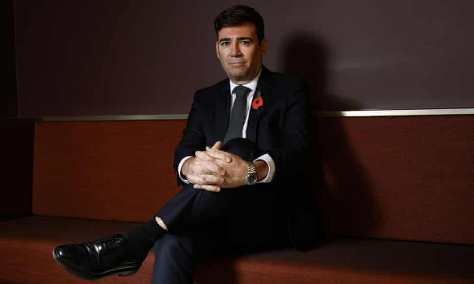 Andy Burnham, photographed in Manchester last week.