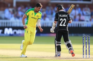Williamson gets caught behind.