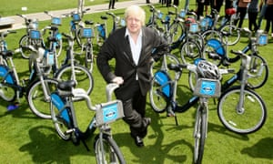 London Cycle Hire scheme court caseFile photo dated 28/5/2010 of Mayor of London Boris Johnson stands among Barclays Cycle Hire bikes. The High Court will rule today on a bid to bring a legal challenge over Johnson's flagship cycle hire scheme.