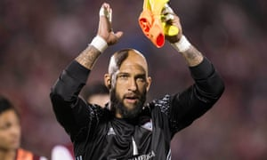 Tim Howard is currently serving a suspension after a run-in with a fan