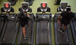 PureGym members exercise between 'do not use' machines