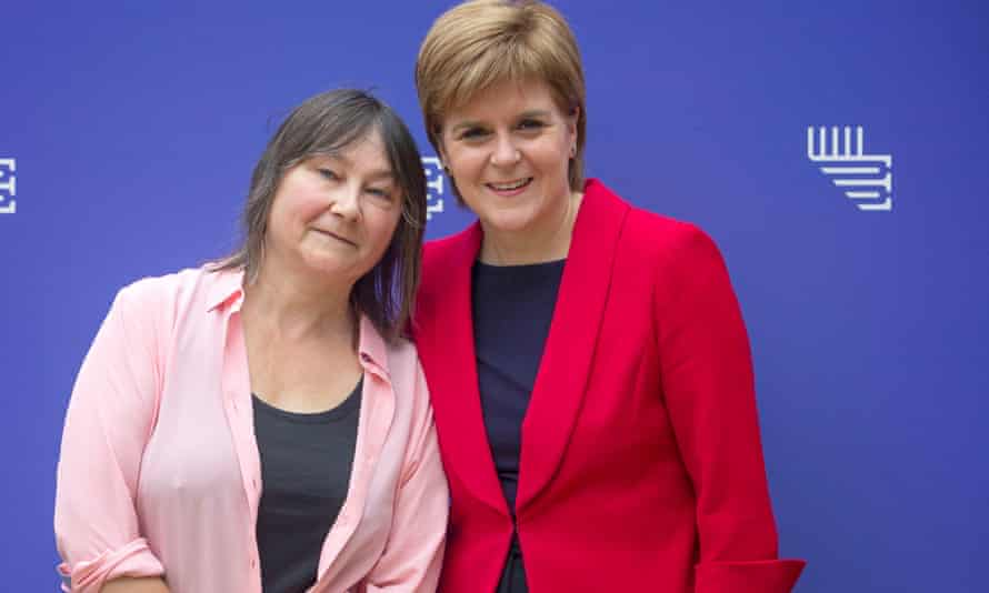 Nicola Sturgeon (right) with Ali Smith at the Edinburgh international book festival in August.