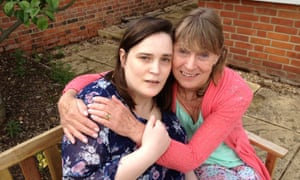 Christine Reddall (right) sits with her daughter Anna, who had young onset dementia.