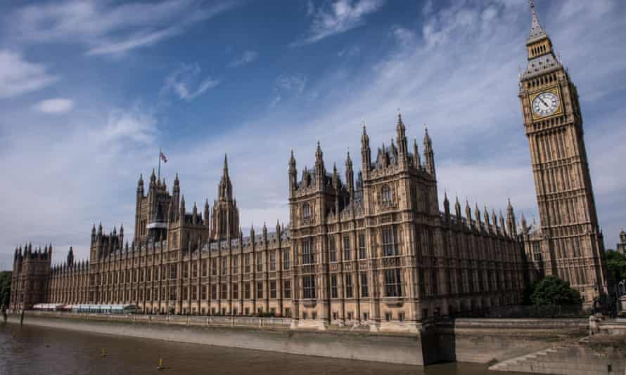 The Palace of Westminster, comprising the House of Commons and the House of Lords.