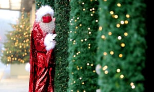Selfridges unveiling its Christmas windows today, with a new-look Santa.