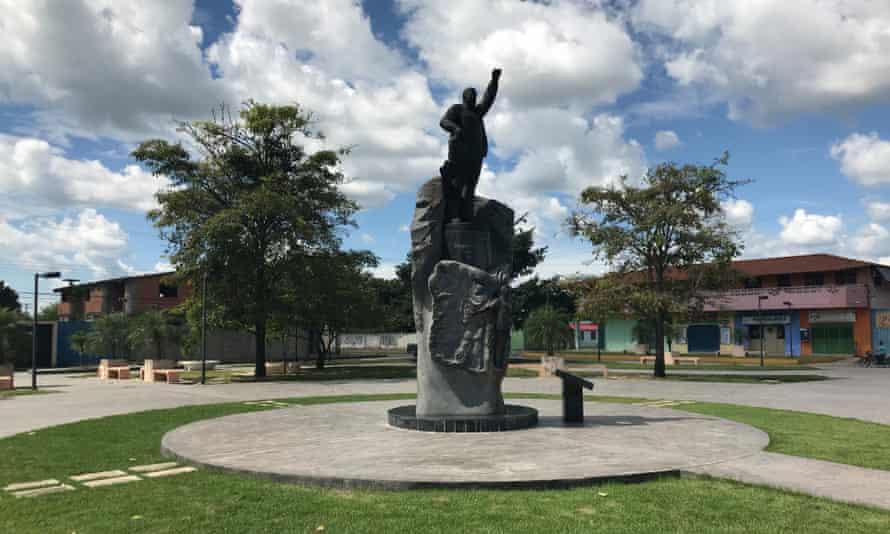 Statue of Hugo Chávez in Sabaneta