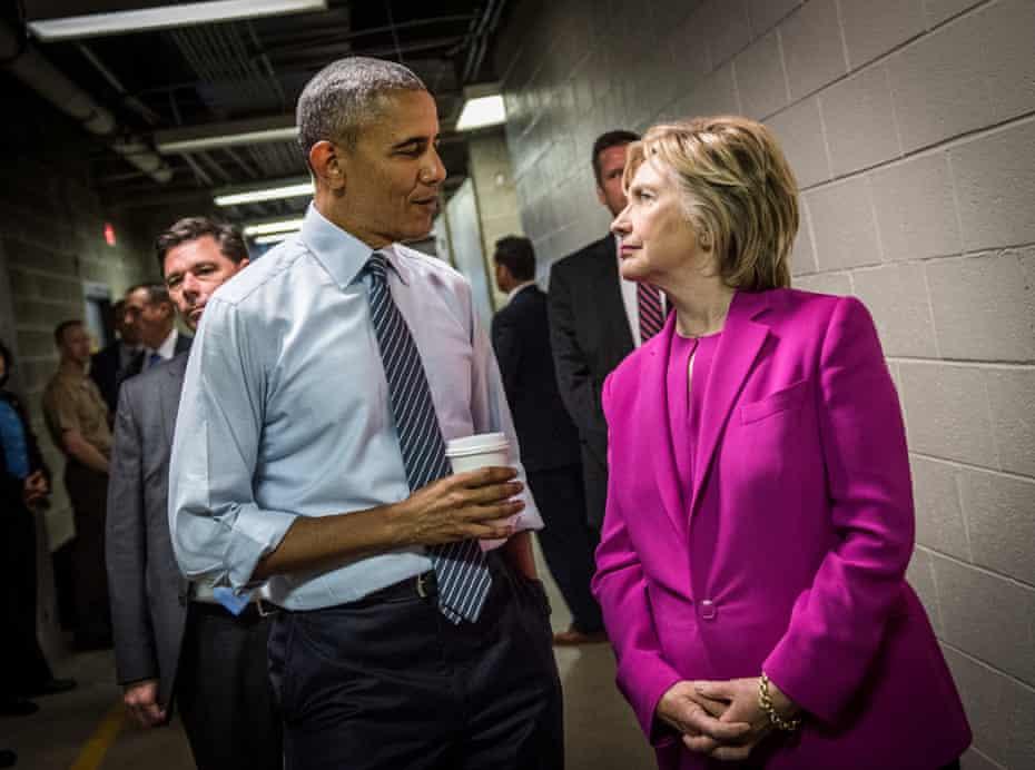 Clinton with Barack Obama.