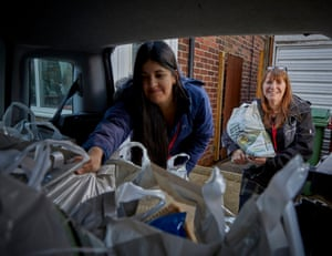 Reach Family Project in Bolton deliver food parcels to their local community to help feed children in the school holidays.