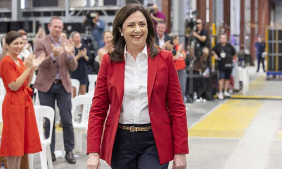 Queensland premier Annastacia Palaszczuk at the Labor election campaign launch in Brisbane on 18 October.