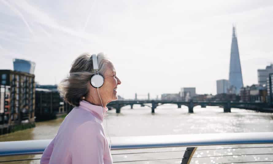 Senior Woman Running In London