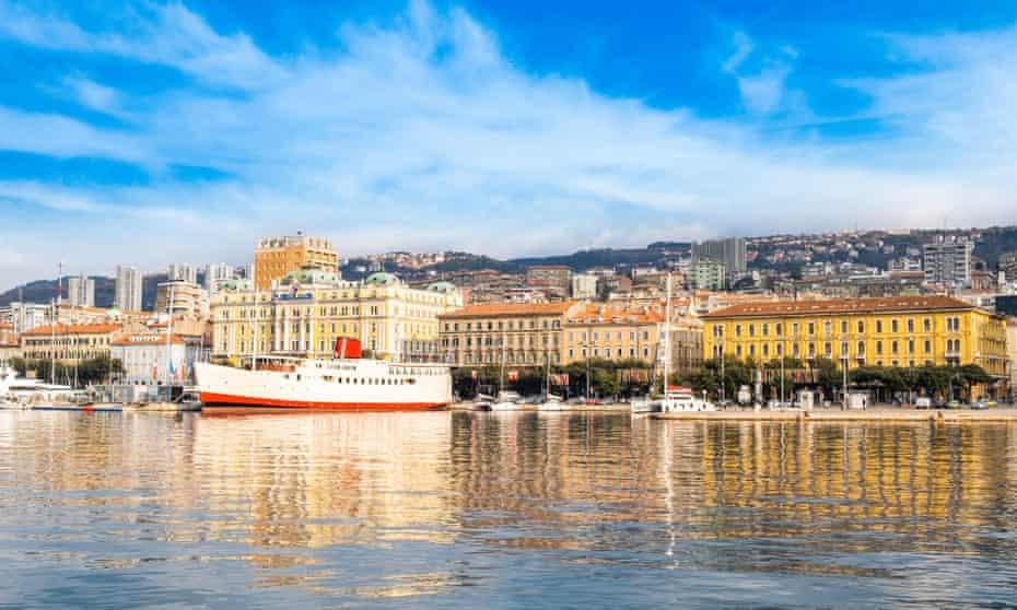 Rijeka's waterfront, Croatia.