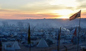 A camp near the Standing Rock reservation.