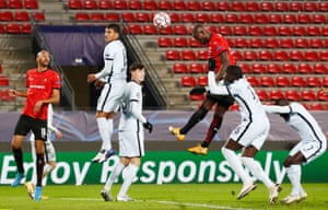 An unmarked Serhou Guirassy heads in the equaliser.