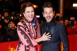 Berlin jury members Maggie Gyllenhaal and Diego Luna arrive for the opening ceremony of the 67th annual Berlin film festival.