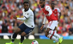 When Tottenham's Danny Rose gave the ball away it led to Alexandre Lacazette pulling a goal back for Arsenal on the stroke of half-time.