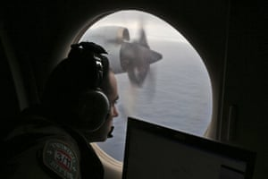 Fight officer Rayan Gharazeddine on board a Royal Australian Air Force plane searching for wreckage from MH370 in the southern Indian Ocean.