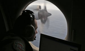 Flight officer Rayan Gharazeddine on board a Royal Australian Air Force AP-3C Orion searches for missing Malaysia Airlines Flight MH370.
