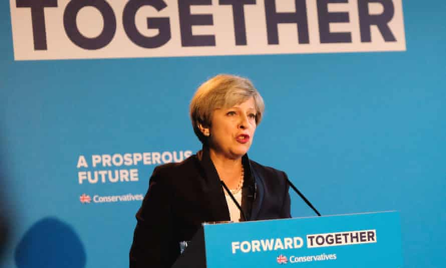Theresa May launches the Conservative party manifesto, containing major reforms to social care, 18 May 2017