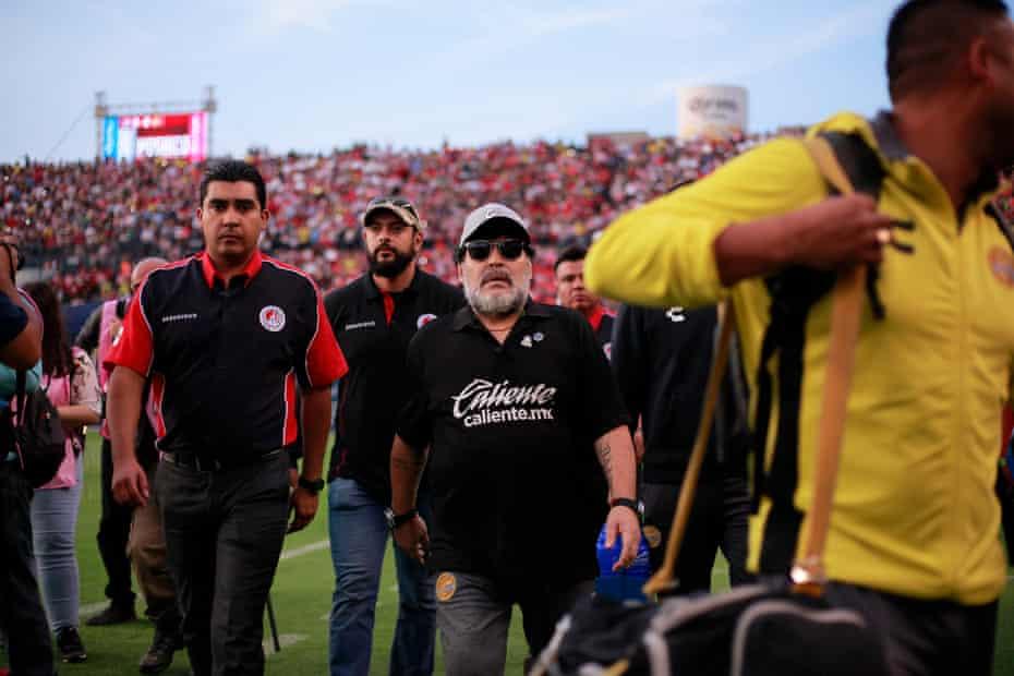 Dorados de Sinaloa head coach Diego Maradona ahead of the match against Atletico San Luis in May 2019.