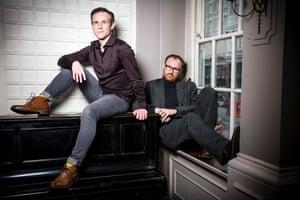 Actors and writers Ian Hallard and Mark Gatiss by Felix Clay