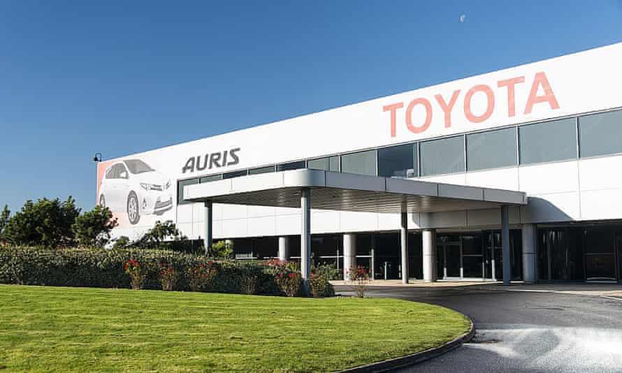 Toyota's plant in Burnaston, Derbyshire.