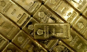 Gold bars at the Indian jewellery retailer Tanishq in Hosur, near Bangalore.