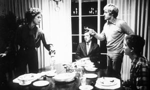 Robert Redford, second right, directing Mary Tyler Moore, Donald Sutherland, centre, and Timothy Hutton in Ordinary People, 1980.