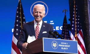 President-elect Joe Biden delivers remarks about the US economy during a press briefing Monday in Wilmington, Delaware.