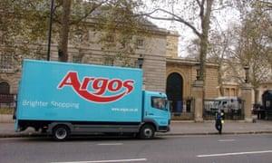 An Argos delivery van in London