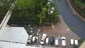 Hamilton Island in the immediate aftermath of Debbie on Tuesday