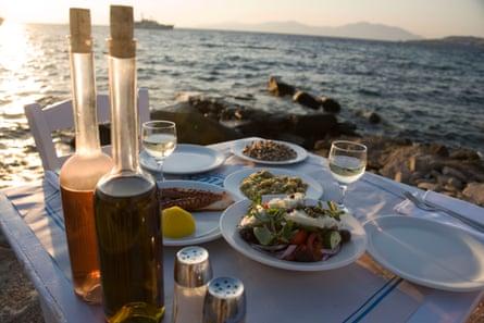 A sample Mediterranean diet table