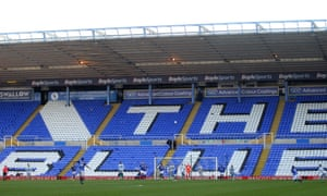 The empty Tilton Road End during the third-round tie between Birmingham City and Blackburn