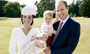 The Duchess of Cambridge, Princess Charlotte, Prince George and Prince William