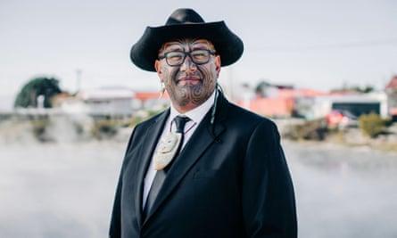 Maori MP Rawiri Waititi. New Zealand.