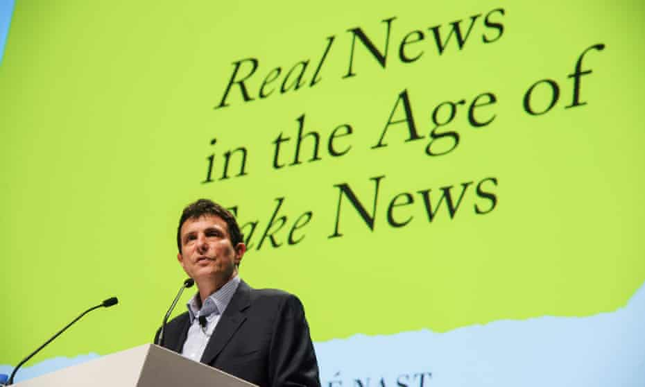New Yorker editor David Remnick on stage at Cannes Lions.