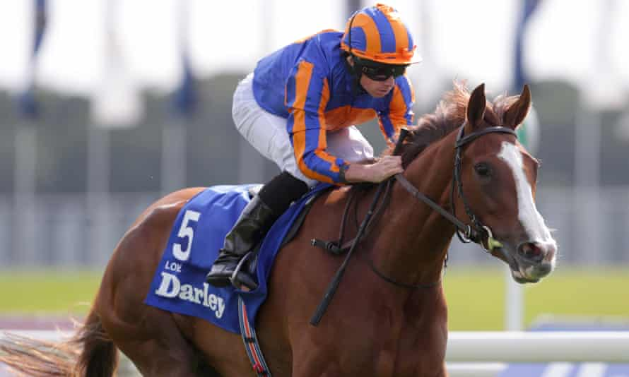 Love, ridden by Ryan Moore, wins the Yorkshire Oaks in August